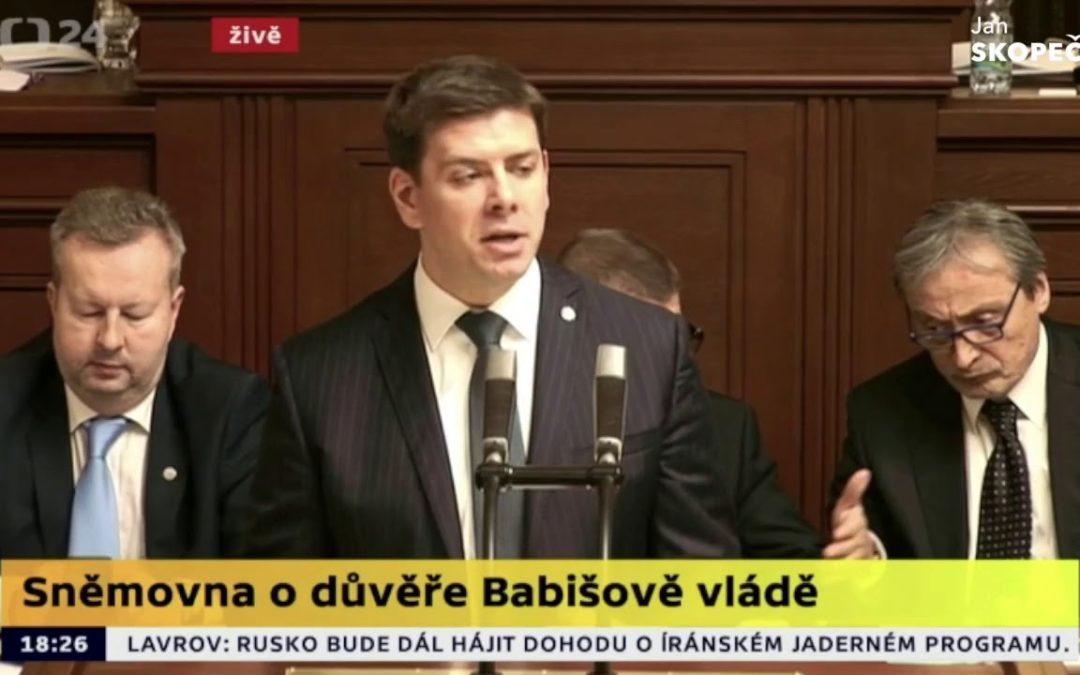 Vystoupení v Poslanecké sněmovně: Důvěra Babišově vládě